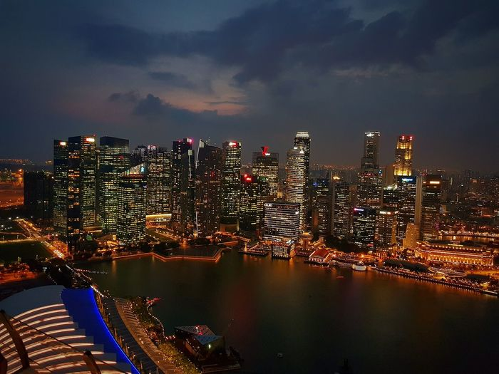View from marina sands bay rooftop...