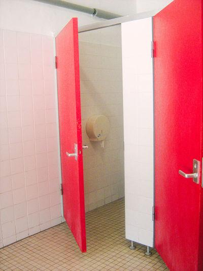 Open door of bathroom