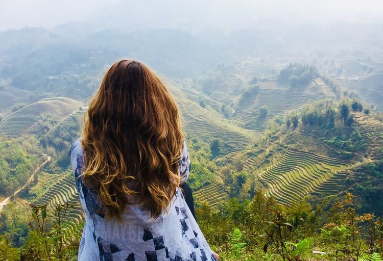Lao Chai Ricefield Travel Vietnam Hair One Person Mountain Beauty In Nature Scenics - Nature Rear View Leisure Activity Lifestyles Landscape Real People Environment Nature Mountain Range Land Women