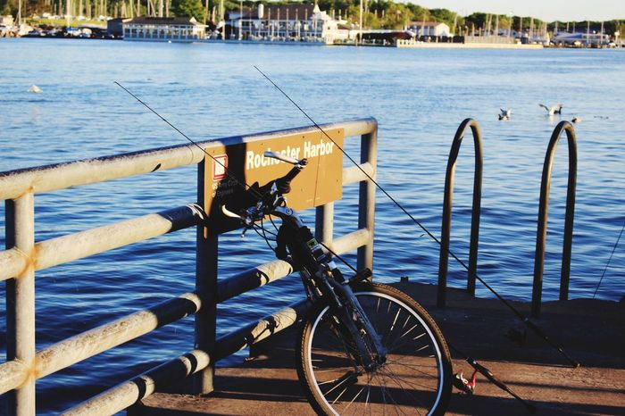 Bicycle Mode Of Transport Transportation Water Day Sea Outdoors Nautical Vessel Real People Nature Men One Person People EyeEmNewHere Tranquility Hello World Outdoors. Waterfront Fishing