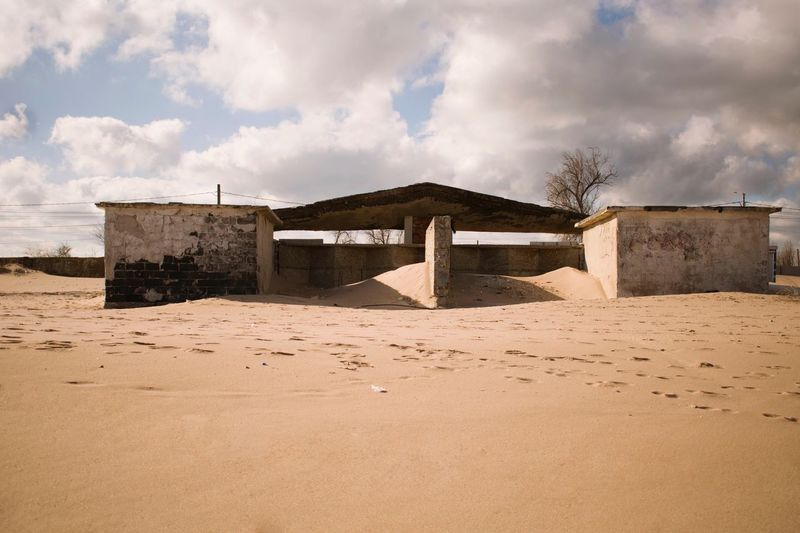 Ruins Ruins Sand Sky Cloud - Sky Architecture Built Structure Beach History No People Nature Outdoors Summer Exploratorium