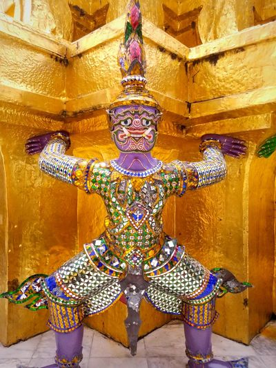 The Migrating Moose Historic Architecture Golden Temple Great Temple Thailand Bangkok Tourism Tourist Attraction  Tourist Destination Statue Sculpture Multi Colored Gold Colored Architecture Idol Buddhism Golden Color Place Of Worship Golden Temple Buddha