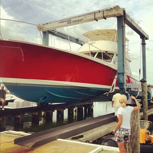 She's being launched