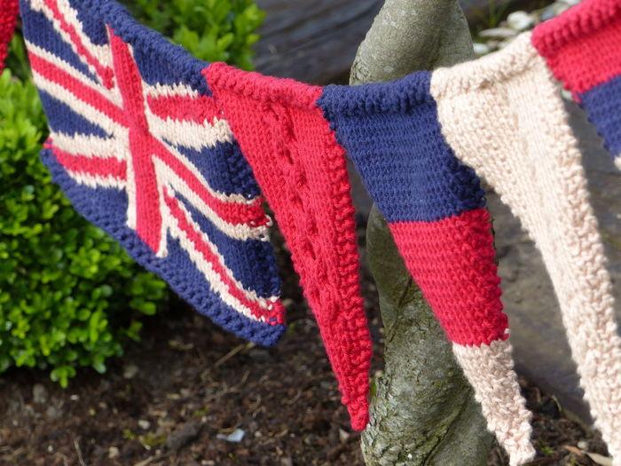 Knitted Bunting Union Jack Knitting Union Jack Flag Knitted Union Jack Fabric Texture British Flag