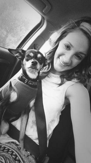 Just me and my bitch Car Selfie Bitch Princess Chippin