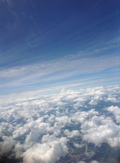EyeEmNewHere Sky First Eyeem Photo Sky View Airplane Lonely Missing Travel