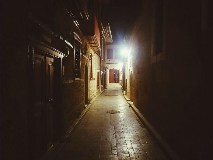 Night Architecture Illuminated Indoors  Travel Destinations Lighting Equipment Dark And Light Photography Darkly Narrowstreets City
