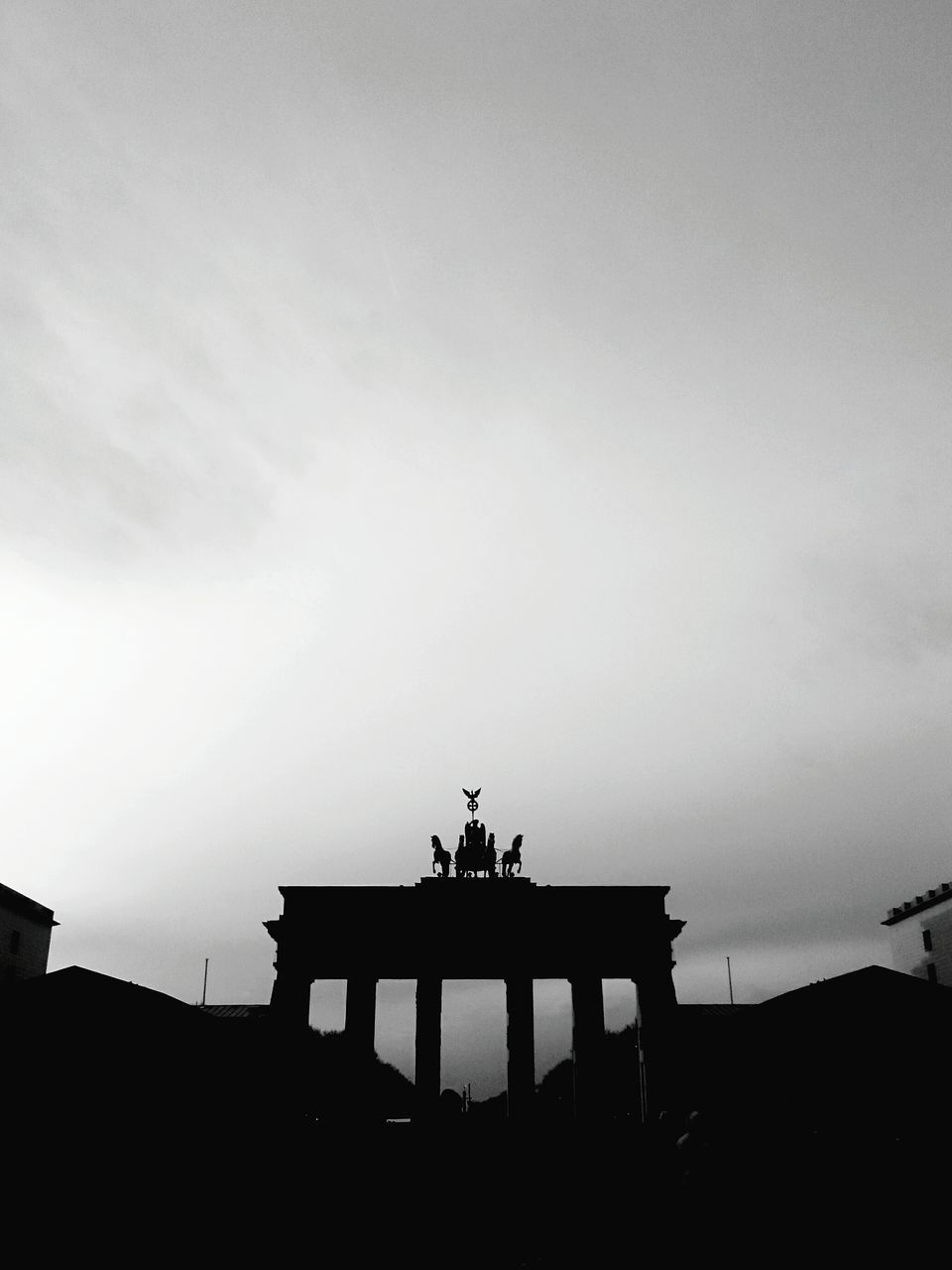 sky, architecture, silhouette, sculpture, built structure, statue, travel, nature, history, the past, art and craft, travel destinations, no people, tourism, outdoors, representation, copy space, low angle view, human representation, architectural column