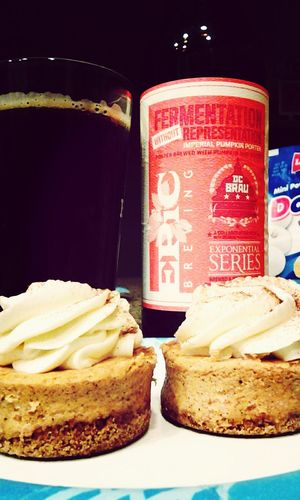 A good combo. Pumpkin cheesecake with a collaboration imperial pumpkin porter from epic brewing and DC Brau I ❤ Beer Craft Beer Epic Brewing DC Brau