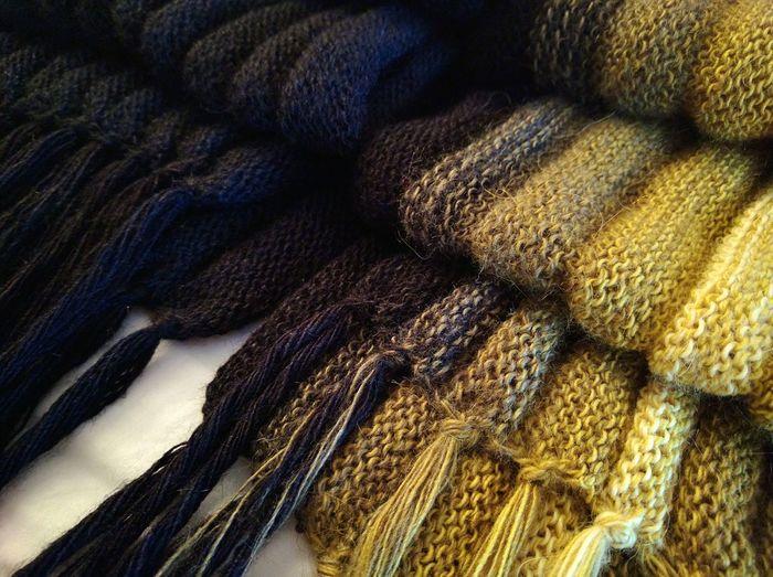 Close-Up Of Woolen Scarves