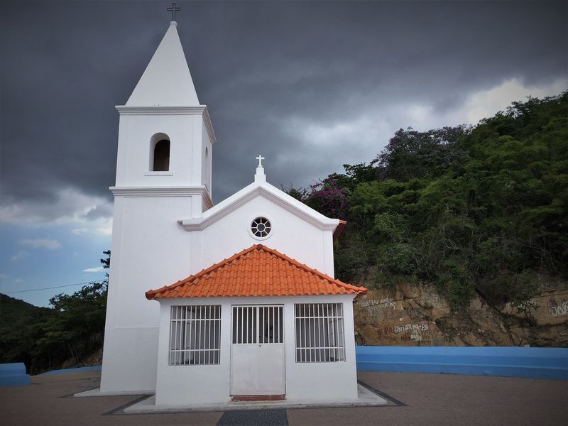 Old Mountain Church Angola Catholic Church Travel Vacations Africa Architecture Building Exterior Built Structure Cloud - Sky Day Destination Huila  Lubango Nature No People Outdoors Religion Sky Spirituality Summer Tourism Travel Destinations