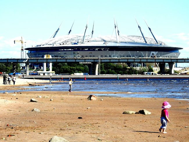 New Stadium Football World2018 Baltic Sea The Gulf Of Finland Sankt-Petersburg Beachphotography Building Feel The Journey Original Experiences
