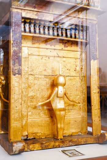 Amazing Ancient Ancient Civilization Antique Close-up Collection Day Egypt Egypt Cairo Egyptian Egyptian Museum Egyptian Statue Egyptology Focus On Foreground Golden No People Ornate Pharahos Shelf Still Life The Past Tout Ankh Amoun Tresure Wood - Material