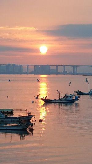 Sunrise Happynewyear Nautical Vessel Water Sea Sunset Beach Sun Sunlight Reflection Summer Sky Seascape Coast Low Tide