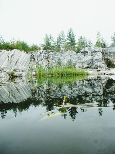 Nature Water Karelia Mirroring Mirror Marble Mountian Park Russia Ruskeala Summer Beauty In Nature