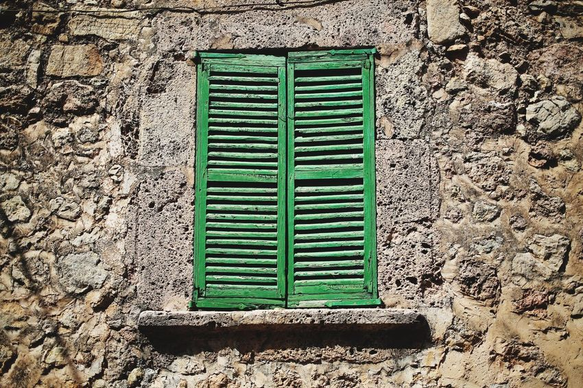 Window Shutters Window Shutter Architecture Shutters Green Green Color No People Day Pattern Sunlight Security Nature