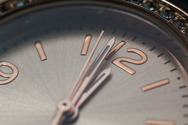 Close-up of wristwatch