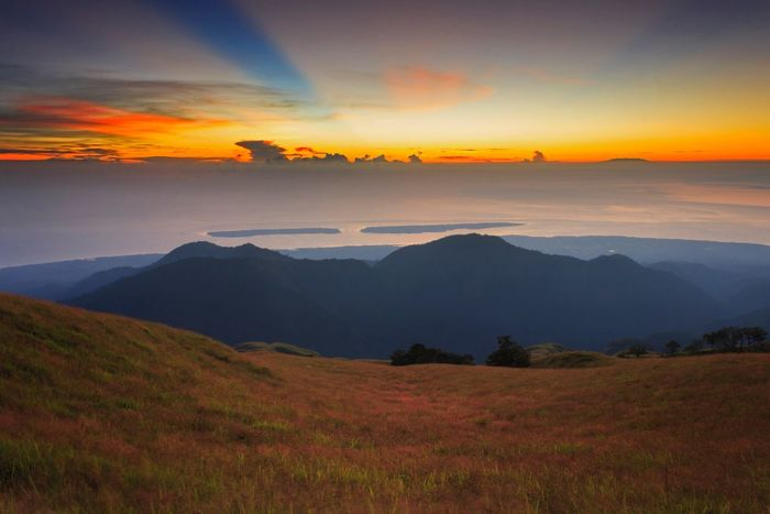 Sunrise point Sky Beauty In Nature Scenics - Nature Sunset Tranquil Scene Cloud - Sky Environment Landscape Orange Color Mountain Nature No People Outdoors Mountain Range Land