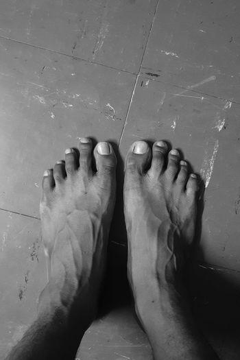 Foots of human