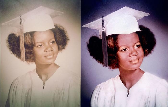 KimberlyElle Portrait revived my moms old highschool graduation photo :)) Photoshop Edit