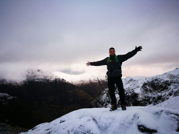 Three Sisters Scotland Love Yourself One Man Only Snow Winter One Person Human Body Part Only Men Adults Only Leisure Activity Travel Outdoors Adventure Standing