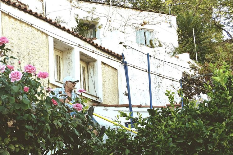 Old Man check his Garden | Athens, Greece People Street Photography Capture The Moment Iconic Images  Good Morning Adapted To The City
