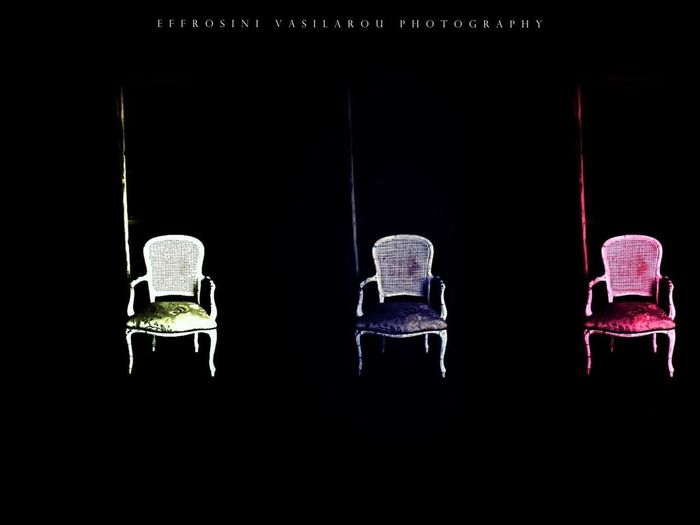 Vintage Old Collage Chair The Architect - 2018 EyeEm Awards Black Background Close-up