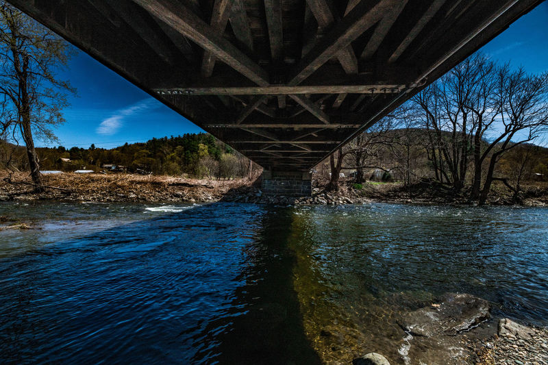 Water Connection Bridge Bridge - Man Made Structure River Architecture Built Structure Tree Sky No People Nature Transportation Plant Scenics - Nature Day Land Non-urban Scene Tranquility Outdoors Stream - Flowing Water Flowing Water Underneath Covered Bridge Over River