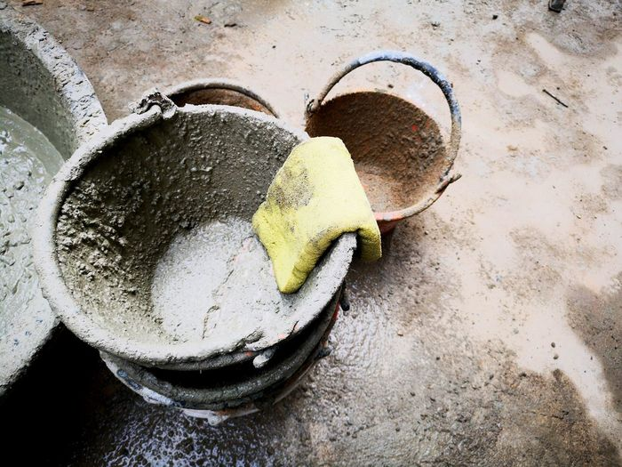 Cement tub in the construction site. Service House Brick Architecture Equipment Building Concrete Close-up Construction Renovation Home Site Structure Industrial Repairs Close-up Tool Cement Block Concrete Wall Hand Tool Served First Eyeem Photo
