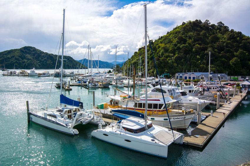 Marina in Picton, New Zealand Boat Harbor Marina Mode Of Transport Nautical Vessel Picton  Sailboat Scenics Water