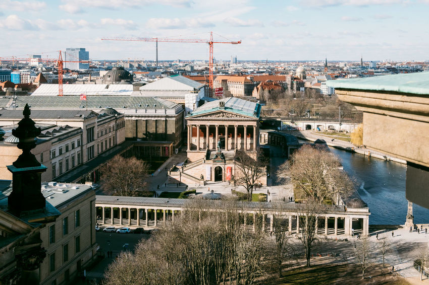 Berlin Dome  Berliner Dom Museum Island Alte Nationalgalerie Altenationalgalerie Arch Bridge Architecture Bridge Bridge - Man Made Structure Building Building Exterior Built Structure City Cityscape Connection Day High Angle View Nature No People Outdoors Residential District River Sky Transportation Water