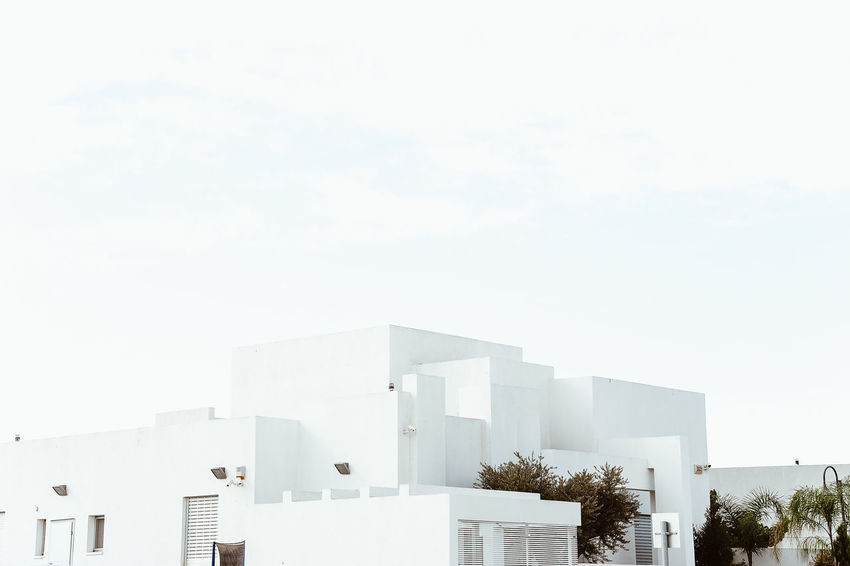 Israel Tourism Travel Architecture Built Structure Building Exterior Sky Building Nature No People Day Copy Space City Tree Outdoors White Color Plant Modern Residential District Sunlight Clear Sky Travel Destinations House