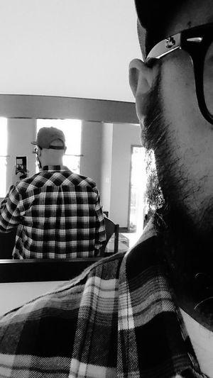 Selfie Mirror Lumberjack Black And White Photo Myself Freitag
