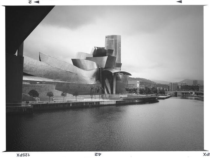 Ria de Bilbao , museo Guggengeim y Torre IBerdrola Guggenheim Bilbao Torre Iberdrola Bilbao First Eyeem Photo