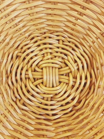 """A basket bottom"" Pattern Backgrounds Handmade Wicker Picnic Basket Gold Colored"