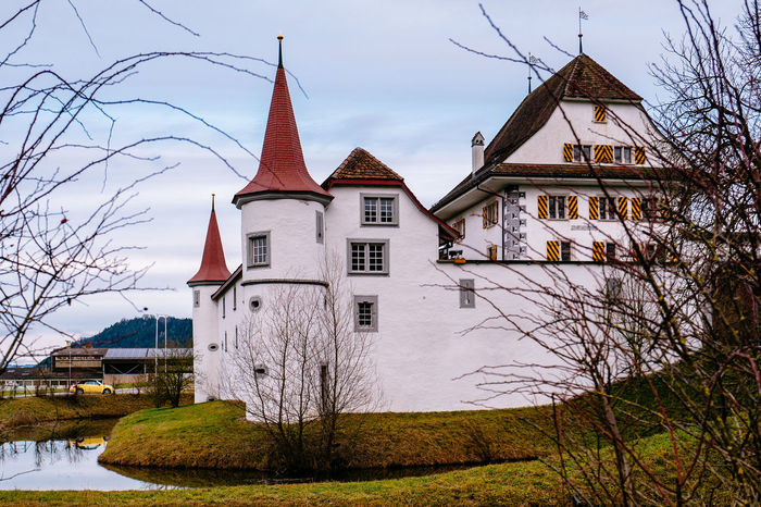 Architecture Exterior History Old Outdoors Roof Schloss Wyher Wyher