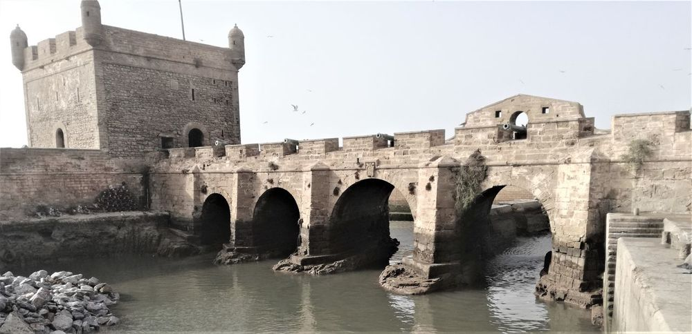 Ancient Arch Architecture Building Exterior Built Structure Clear Sky History Nature No People Outdoors River Water