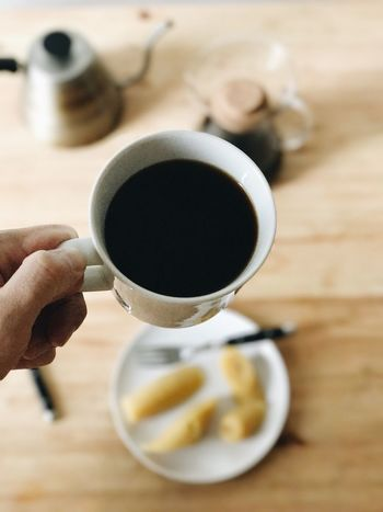 Coffee Cup Coffee - Drink Drink Food And Drink Refreshment Human Hand Cup Holding Freshness One Person Human Body Part Table Real People Indoors  Saucer Tea - Hot Drink Breakfast Healthy Eating Close-up Food IPhone VSCO