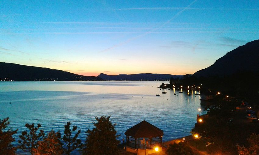 Annecy Sunset Cocktail Summer Lake Beautiful Day