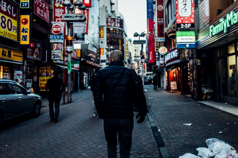 Shibuyascapes Travel Destinations City Life Daytime Japan Japan Lovers Morning Shibuya Tokyo Urban Exploration Architecture Building Exterior Built Structure City City Life Day Illuminated Men One Person Outdoors People Real People Rear View Street Transportation Travel Destinations Urban Walking This Is Masculinity Stories From The City The Street Photographer - 2018 EyeEm Awards