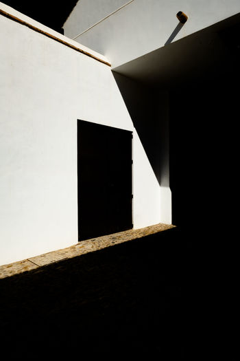 Ronda Ronda Spain Minimal Minimalism Minimalist Architecture Minimalist Built Structure Architecture Low Angle View No People Building Exterior Wall - Building Feature Building Copy Space Window Day Outdoors Sky Geometric Shape Nature Sunlight House Wall Shape White Color Ceiling Blank