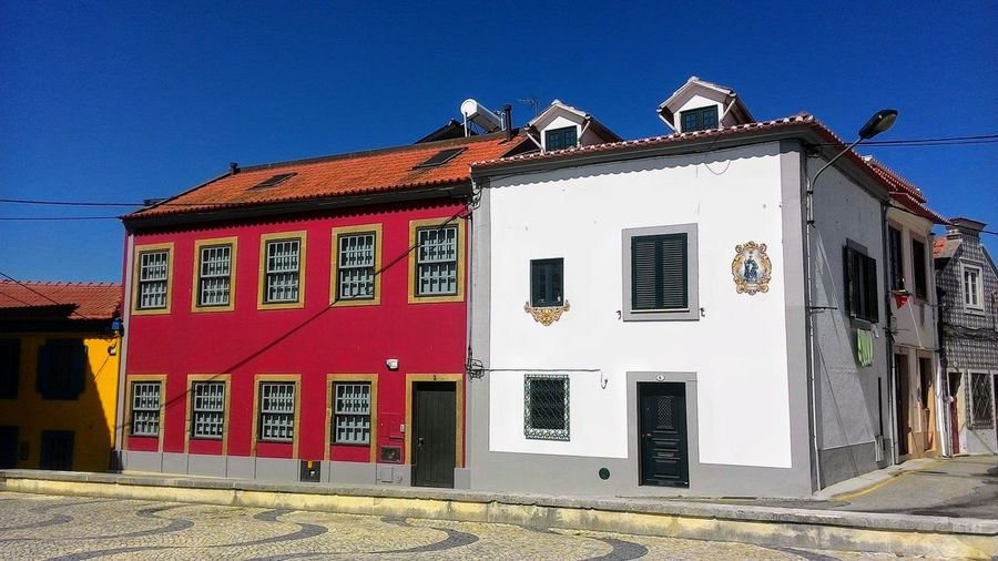 Architecture No People Buildings Architecture Sky Blue Color Photography Architecture Of Aveiro