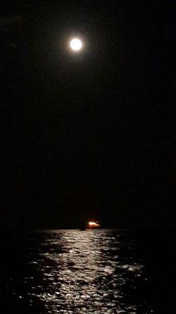 Sky And Sea Full Moon Moon Light EyeEm_crew
