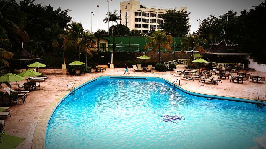 JamaicaPegasus Newkingston Chillin' By The Poolside Poolsideview WarmWeatherGent Islandlife Paradise