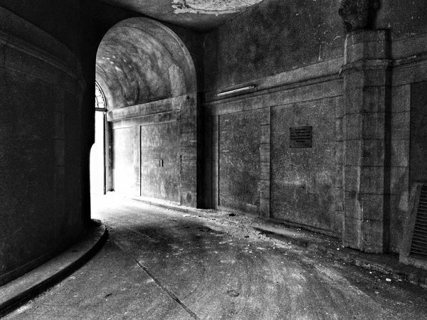 Blackandwhite Urban Exploration Tunnel Light At The End Of The Tunnel Light And Shadow Stone Concrete Texture