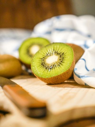 Close-up of kiwi fruits