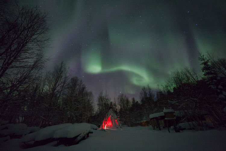 Northern lights dancing over Lapland Arctic Aurora Borealis Auroraborealis Beauty In Nature Cold Finland Frozen Glowing Idyllic Kota Lapland Lapland, Finland Night No People Non-urban Scene Northern Lights Scenics Sky Teepee Tn Tranquil Scene Tranquility Wind Winter