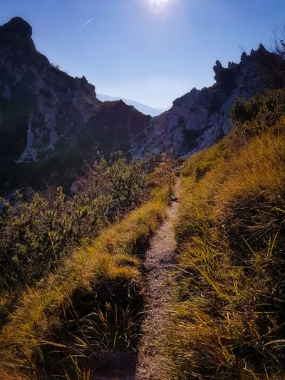 Landscape Nature Sky Outdoors Beauty In Nature Day MountainsHiking Narrow Trails Backlight