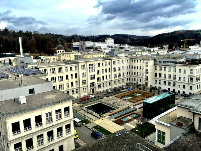 City Sky High Angle View
