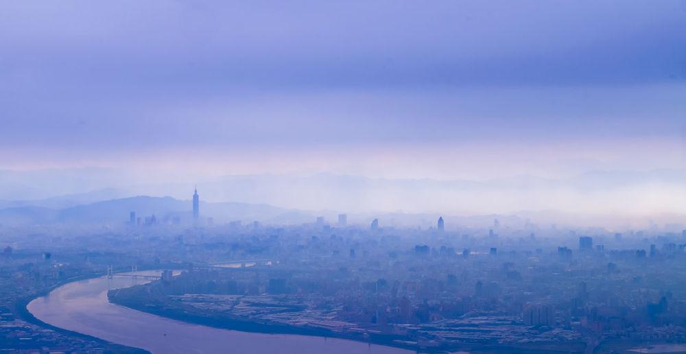 Colour Of Life Still Life River Smoke Sky Blue Sky Blue Color Taiwan Taipei Color Palette
